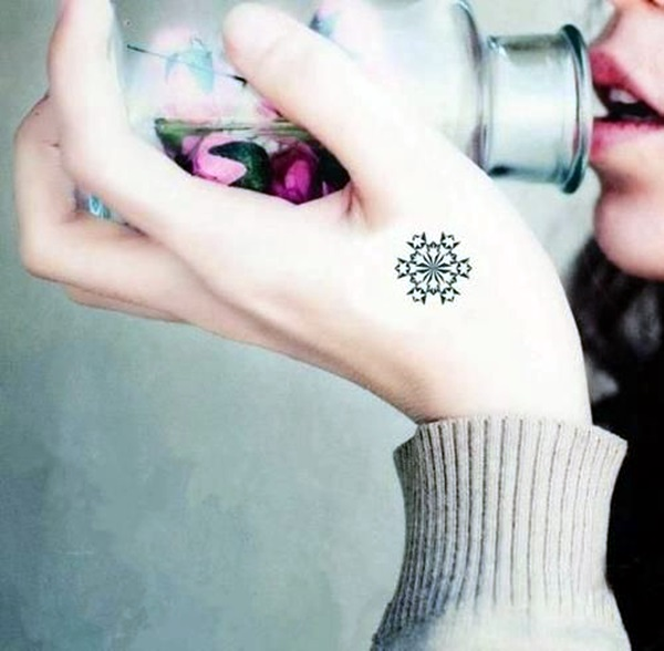 40 Cute and Artsy Snowflake Tattoos - Bored Art
