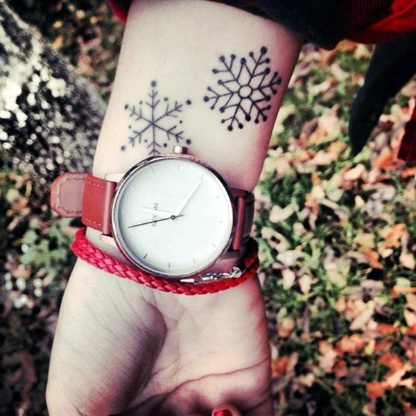 Cute and Artsy Snowflake Tattoos (20)