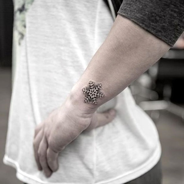 Cute and Artsy Snowflake Tattoos (24)