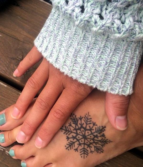 Cute and Artsy Snowflake Tattoos (27)
