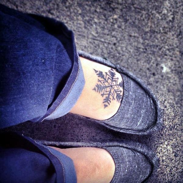 Cute and Artsy Snowflake Tattoos (8)