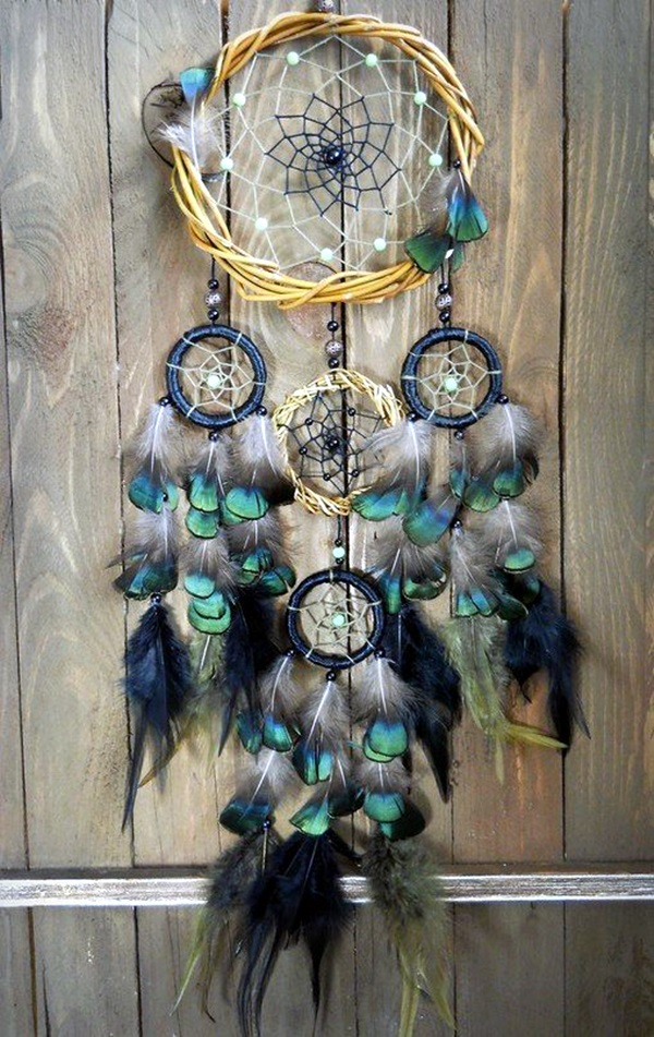 40 diy beautiful and unique dream catcher ideas bored art for How to make dreamcatcher designs