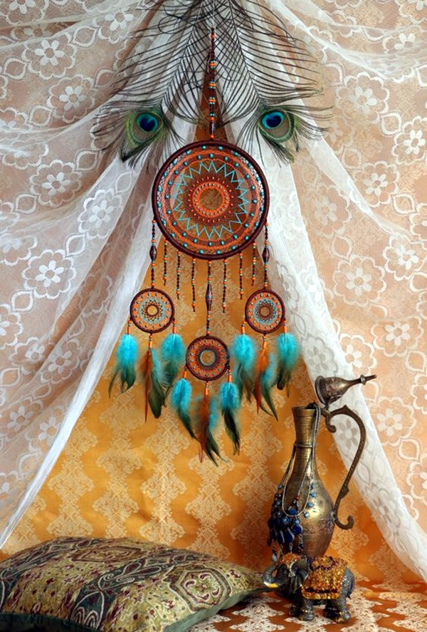 DIY Beautiful and Unique Dream Catcher Ideas (40)