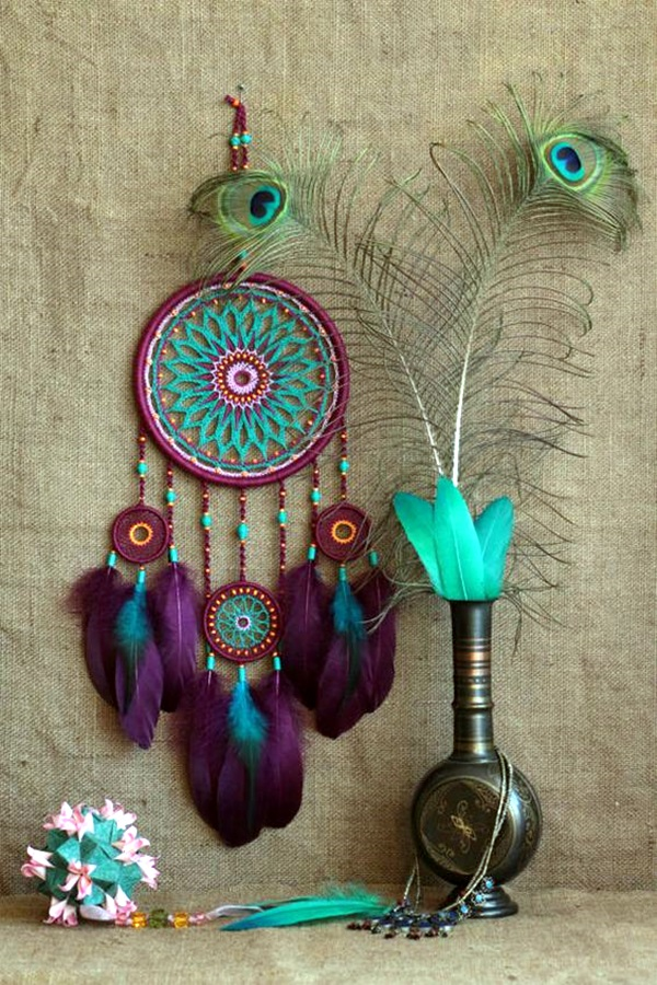 DIY Beautiful and Unique Dream Catcher Ideas (43)