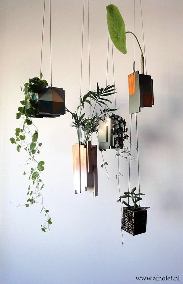 40 elegant diy hanging planter ideas for indoors bored art. Black Bedroom Furniture Sets. Home Design Ideas