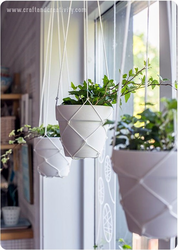 Elegant DIY Hanging Planter Ideas For Indoors (34)