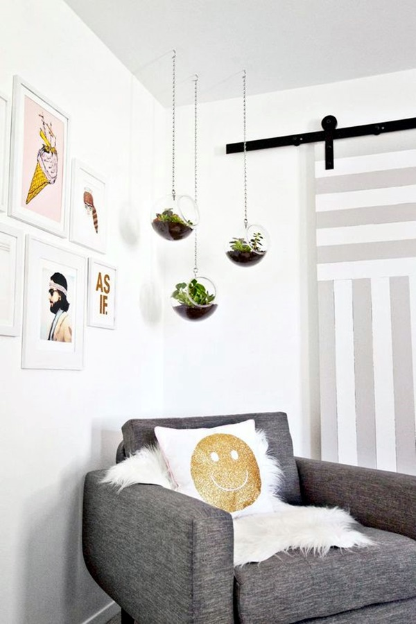 40 Elegant DIY Hanging Planter Ideas For Indoors - Bored Art on Picture Hanging Idea  id=58230
