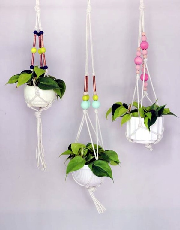 Elegant DIY Hanging Planter Ideas For Indoors (38)