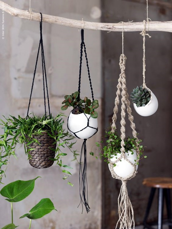 Elegant DIY Hanging Planter Ideas For Indoors (40)