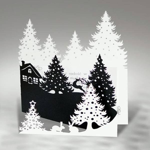 40 extremely creative examples of kirigami art a hobby to for Kirigami christmas card