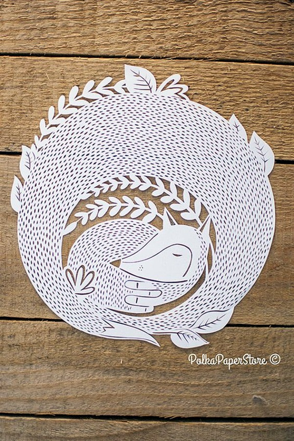 Extremely Creative Examples of Kirigami Art A Hobby to Addapt (42)