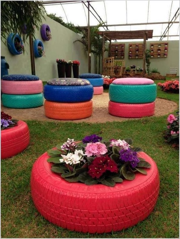 40 smart ways to use old tires bored art for What to do with old tires