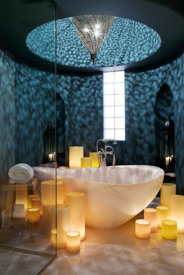 Ways To Use Candles In Bathroom For Special Nights (16)