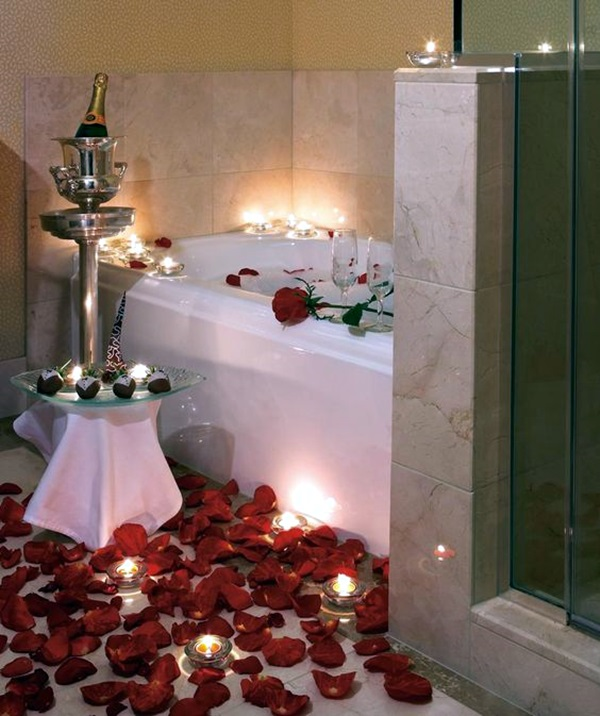 Ways To Use Candles In Bathroom For Special Nights (20)