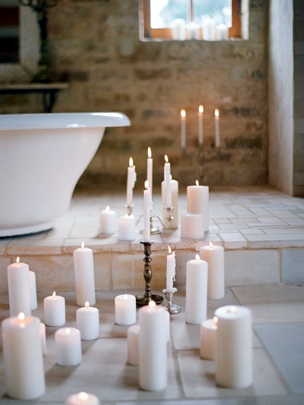 Ways To Use Candles In Bathroom For Special Nights (22)