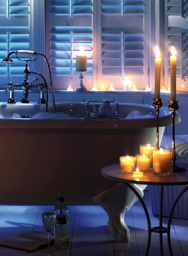 Ways To Use Candles In Bathroom For Special Nights (9)