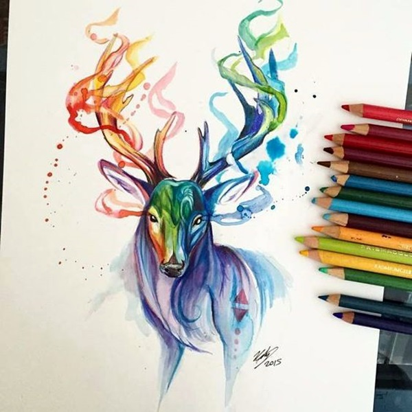 Color pencil drawing examples 2