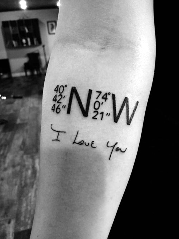 coordinates tattoo Ideas to Mark a Memory on Body (1)