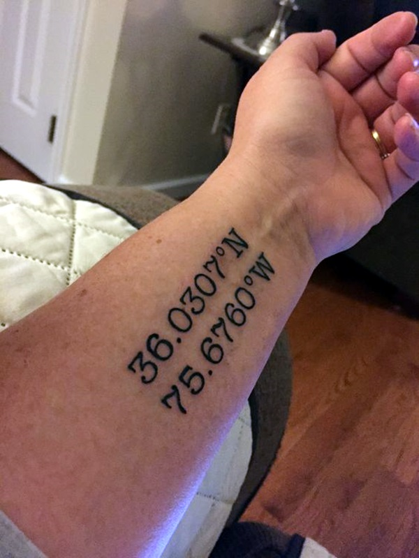 coordinates tattoo Ideas to Mark a Memory on Body (12)