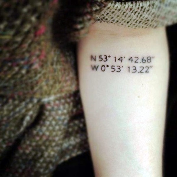 coordinates tattoo Ideas to Mark a Memory on Body (14)