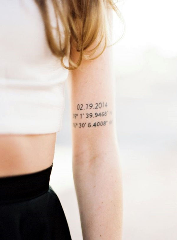 coordinates tattoo Ideas to Mark a Memory on Body (15)