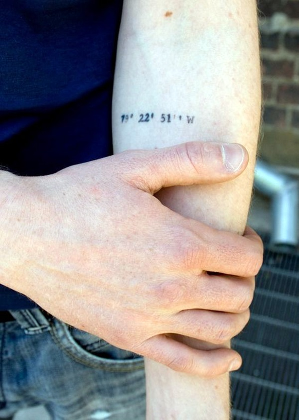coordinates tattoo Ideas to Mark a Memory on Body (19)
