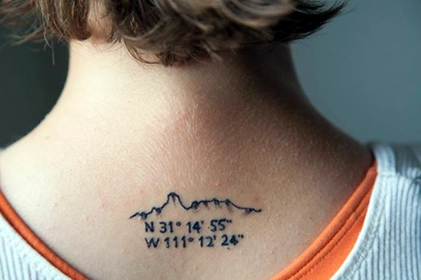 coordinates tattoo Ideas to Mark a Memory on Body (21)