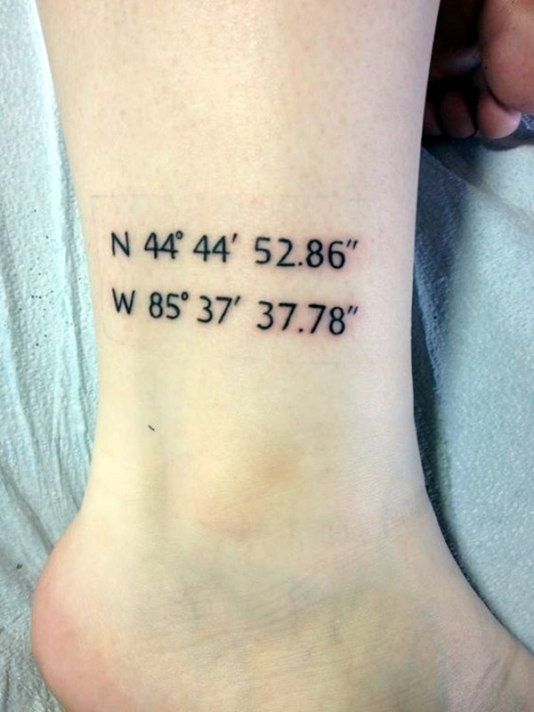 coordinates tattoo Ideas to Mark a Memory on Body (22)