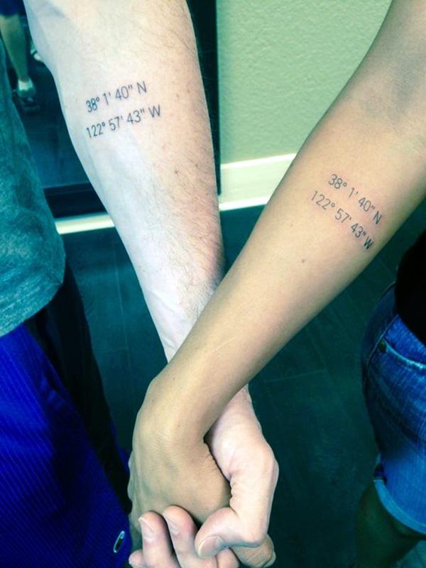 coordinates tattoo Ideas to Mark a Memory on Body (24)