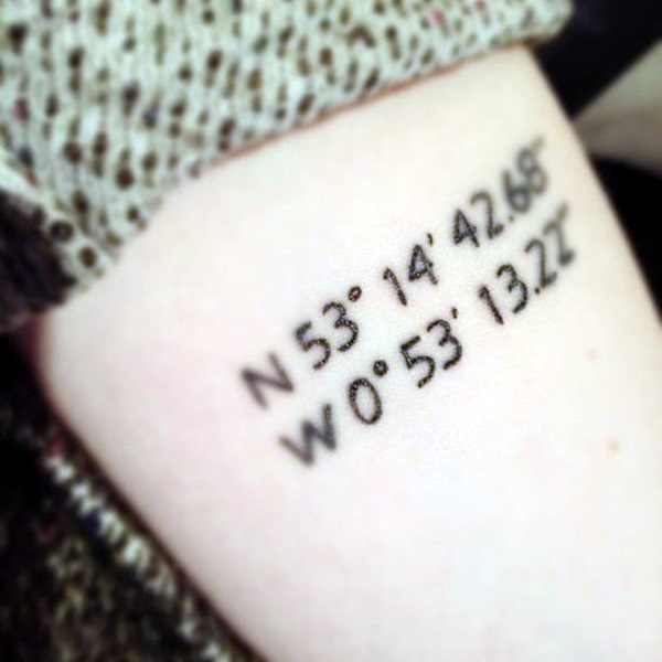 coordinates tattoo Ideas to Mark a Memory on Body (25)