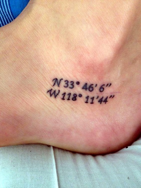 coordinates tattoo Ideas to Mark a Memory on Body (35)