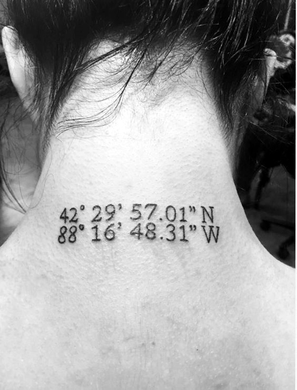 coordinates tattoo Ideas to Mark a Memory on Body (37)
