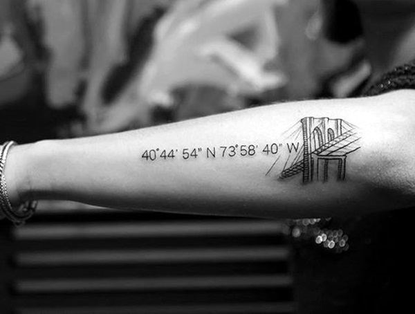coordinates tattoo Ideas to Mark a Memory on Body (5)