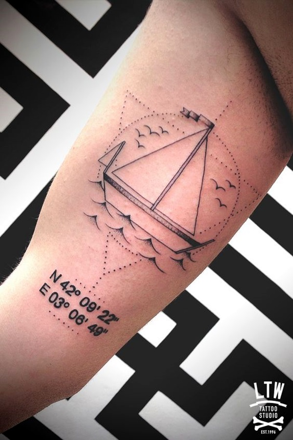 coordinates tattoo Ideas to Mark a Memory on Body (6)