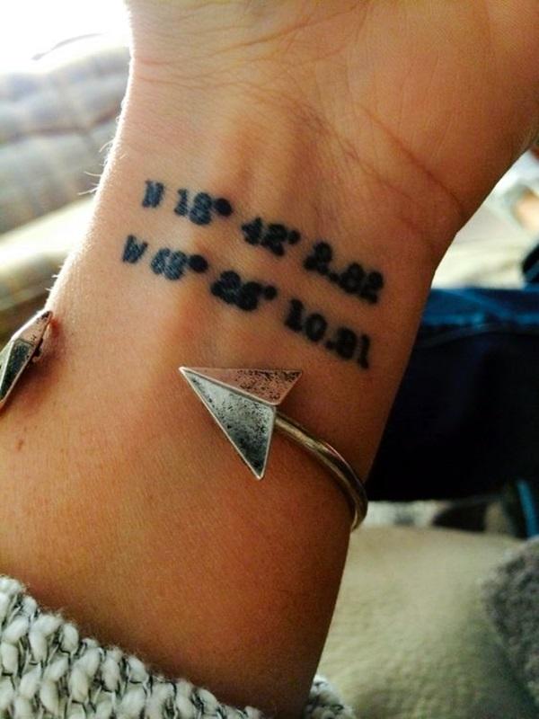 coordinates tattoo Ideas to Mark a Memory on Body (7)