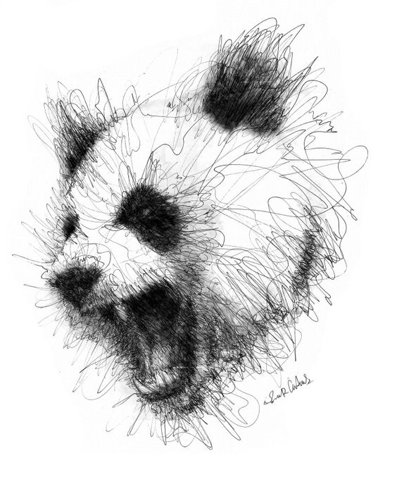 Scribble Drawing Artists : Scribble art to make your home and office look awesome