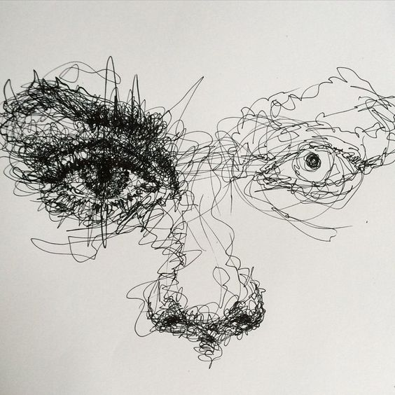 Scribble Drawing Of Face : Scribble art to make your home and office look awesome