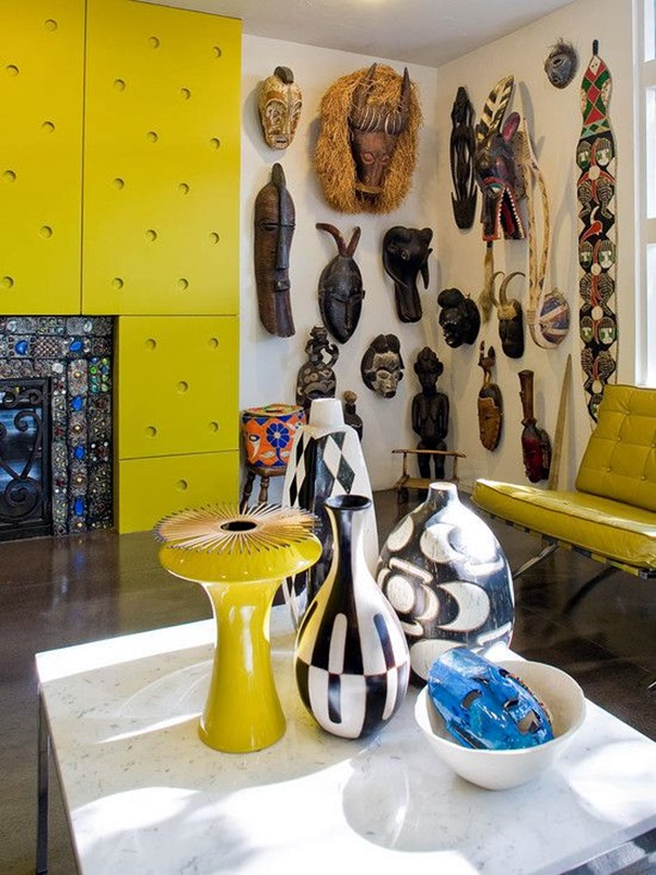 African Masks Wall Decoration Ideas (10)