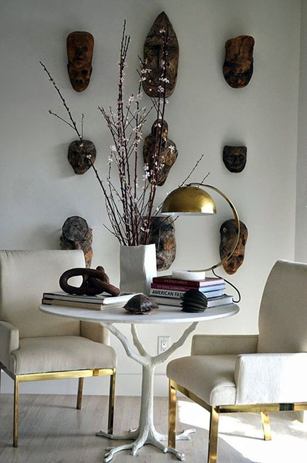 African Masks Wall Decoration Ideas (15)