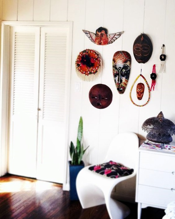 African Masks Wall Decoration Ideas (16)