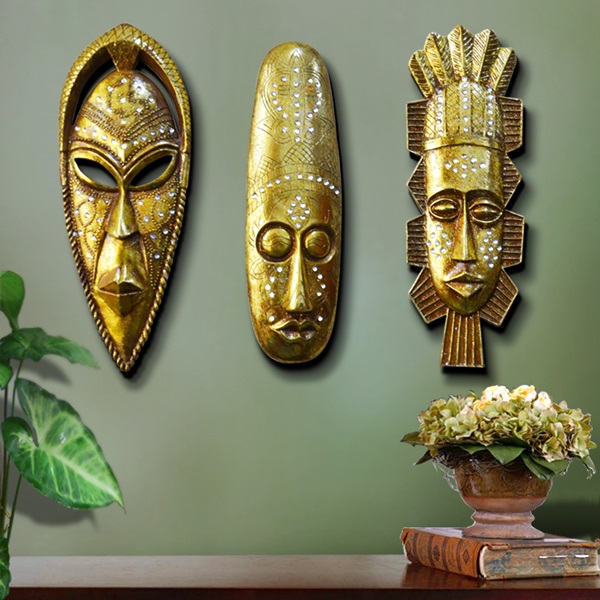 African Masks Wall Decoration Ideas (17)