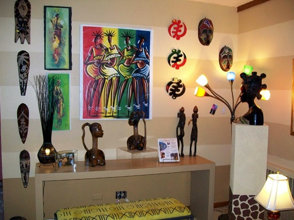 African Masks Wall Decoration Ideas (18)