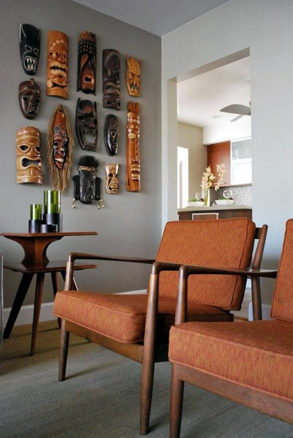 African Masks Wall Decoration Ideas (2)