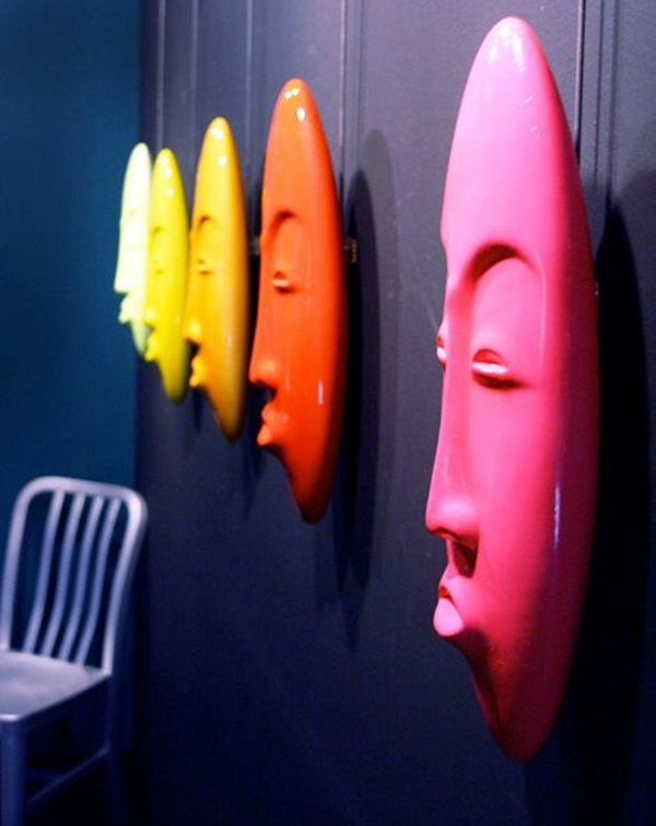 African Masks Wall Decoration Ideas (25)