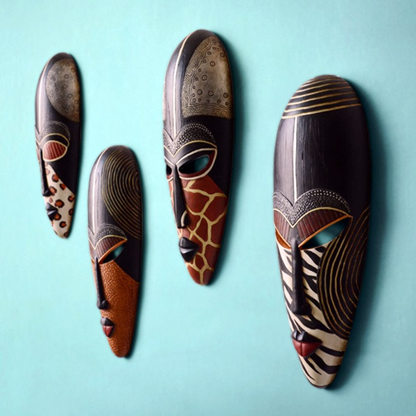 African Masks Wall Decoration Ideas (26)