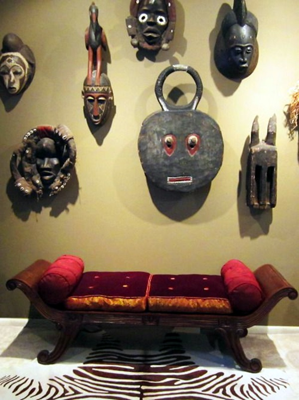 African Masks Wall Decoration Ideas (28)
