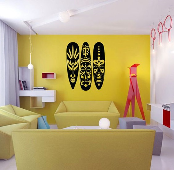 African Masks Wall Decoration Ideas (3)