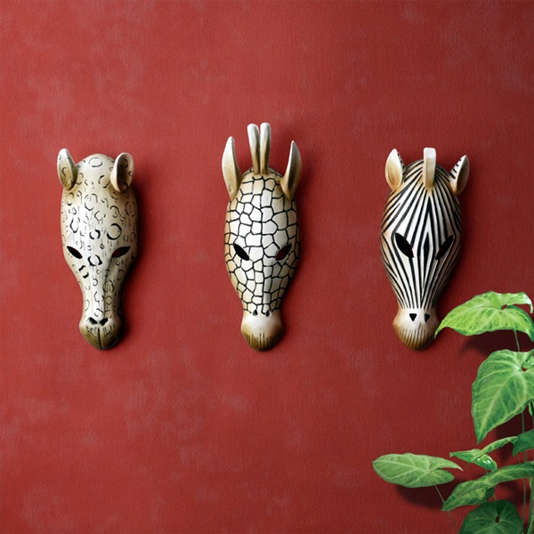 African Masks Wall Decoration Ideas (38)