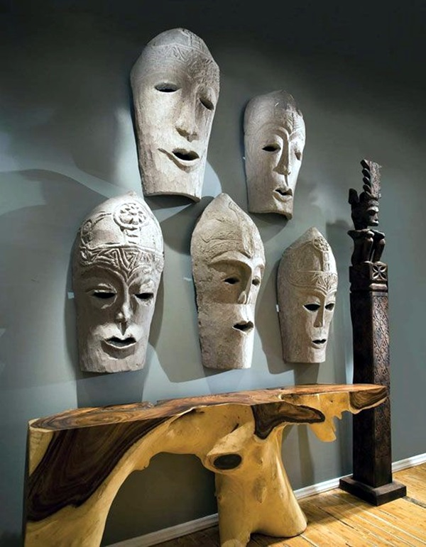 African Masks Wall Decoration Ideas (39)