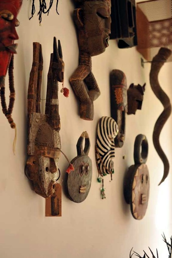 African Masks Wall Decoration Ideas (5)